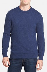 Men's Big And Tall Nordstrom Cashmere Crewneck Sweater Blue Estate Heather