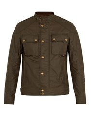 Belstaff Racemaster Waxed Cotton Jacket Green