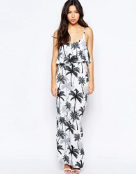 Lipsy Tiered Maxi Dress In Tropical Print 141 Multi