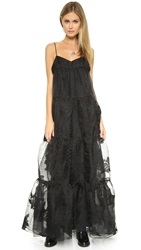Free People Black Rose Tiered Maxi Dress