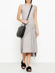 Joseph Jasmine Soft Wool Wrap Dress Grey