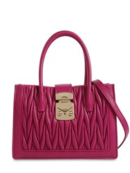 Miu Miu Mini Shopping Matelasse Leather Bag Dalia