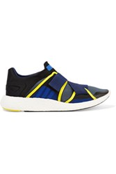Adidas By Stella Mccartney Pure Boost Paneled Neoprene Sneakers Storm Blue