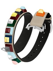 Fendi Selleria Strap You Bracelet Calf Leather Grey