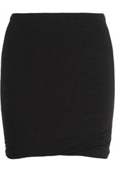 Etoile Isabel Marant Wonki Ruched Jersey Mini Skirt Black