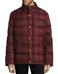 Pendleton Woolen Mills Plaid Puffer Jacket Red Combo