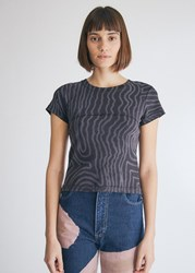 Eckhaus Latta Lapped Baby Short Sleeve T Shirt In Spiral Size Small 100 Cotton