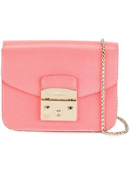 Furla Chain Strap Crossbody Bag Pink Purple