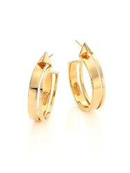 Tom Tom Brasilia Pyramid Hoop Earrings 1.25
