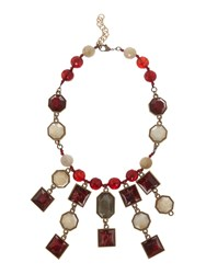 Marella Valda Mixed Bead And Pearl Necklace Red