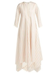 Maison Rabih Kayrouz Striped Mikado Dress White Multi