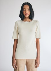 Lauren Manoogian Rib T Shirt In White Size 1