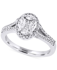 Effy Collection Effy Diamond Engagement Ring 3 4 Ct. T.W. In 14K White Gold