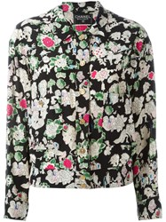 Chanel Vintage Floral Print Jacket Black