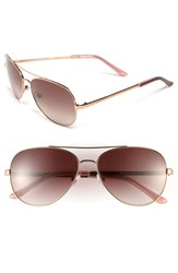 Kate Spade Women's New York 'Avaline' 58Mm Aviator Sunglasses Rose Gold Brown Gradient Rose Gold Brown Gradient
