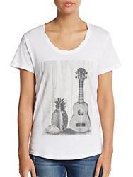 Signorelli Pineapple And Guitar Graphic Tee White