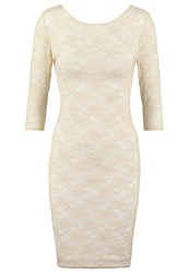 New Look Shift Dress Glitter Off White