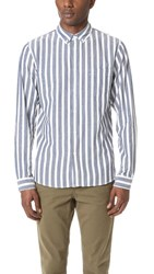 Levi's Made And Crafted Vertical Stripe Shirt Navy White