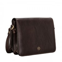 Maxwell Scott Bags Brown Small Leather Handbag Lucca