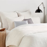 Dkny City Pleat Woven Duvet Cover White