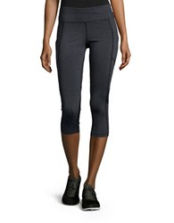 Calvin Klein Striped Active Leggings Grey