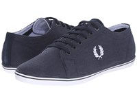 Fred Perry Kingston Heavy Two Tone Canvas Navy White Men's Lace Up Casual Shoes Blue