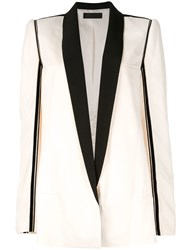 Haider Ackermann Long Blazer Jacket White