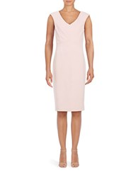 Ivanka Trump Crepe Sheath Dress Blush
