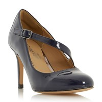 Head Over Heels Anitta Asymetric Strap Court Shoes Navy