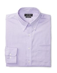 Lauren Ralph Lauren Slim Fit Stretch Oxford Dress Shirt Lavender