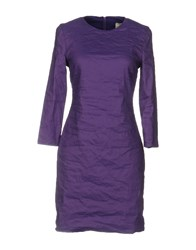 Nicole Miller Artelier Short Dresses Purple
