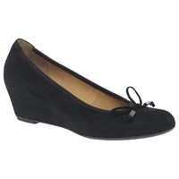 Gabor Alvin Concealed Wedge Heeled Court Shoes Black