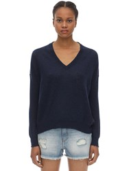 Zadig And Voltaire Cashmere Knit Cardigan Sweater Blue