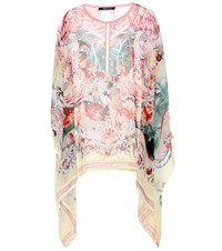 Roberto Cavalli Printed Silk Top Multicoloured