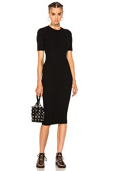 Alexander Wang Crew Neck Tee Dress In Black