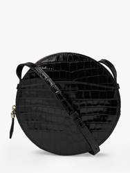 Lk Bennett L.K.Bennett Luna Croc Embossed Cross Body Black