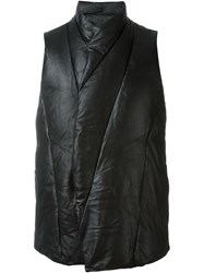 Julius Panelled Padded Gilet Black