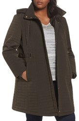 Gallery Plus Size Women's Quilted Jacket Fatigue