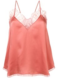 Iro Lace Camisole Top Pink