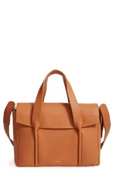 Skagen Beatrix Leather Satchel Beige Tan