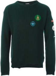 Raf Simons Logo Patch Jumper Green