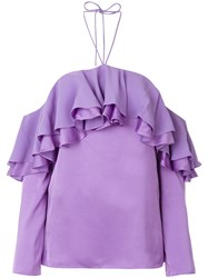 Emilio Pucci Ruffle Detail Blouse Pink And Purple