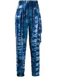Raquel Allegra Tie Dye Print Tapered Trousers 60