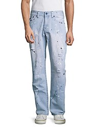True Religion Straight Fit Distressed Jeans Dust Sandy
