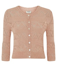 People Tree Kirstie Lace Cardigan Pink