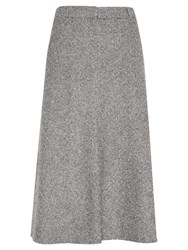 Viyella Mini Tweed Check Skirt Grey
