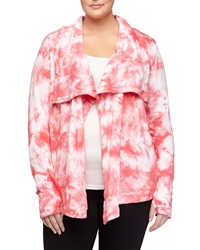 Marc Ny Performance Tie Dye Draped Open Front Cardigan Dragonfruit