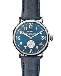 Shinola 41Mm Runwell Watch Midnight Blue Ocean Dark Blue