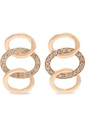 Pomellato Brera 18 Karat Rose Gold Diamond Earrings One Size