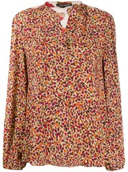 Luisa Cerano Floral Panelled Blouse Pink